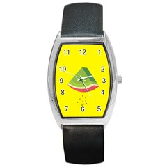 Fruit Melon Sweet Yellow Green White Red Barrel Style Metal Watch
