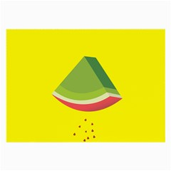 Fruit Melon Sweet Yellow Green White Red Large Glasses Cloth