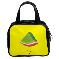 Fruit Melon Sweet Yellow Green White Red Classic Handbags (2 Sides)