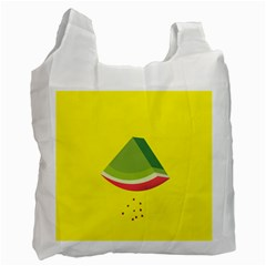 Fruit Melon Sweet Yellow Green White Red Recycle Bag (One Side)