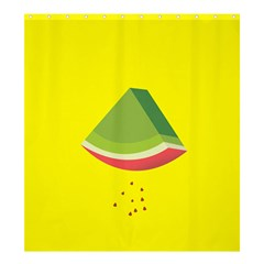 Fruit Melon Sweet Yellow Green White Red Shower Curtain 66  x 72  (Large)
