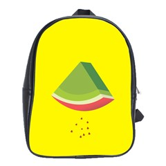 Fruit Melon Sweet Yellow Green White Red School Bags(Large)