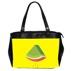 Fruit Melon Sweet Yellow Green White Red Office Handbags (2 Sides)