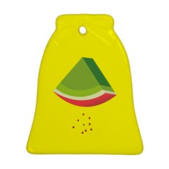 Fruit Melon Sweet Yellow Green White Red Bell Ornament (Two Sides)