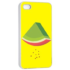 Fruit Melon Sweet Yellow Green White Red Apple iPhone 4/4s Seamless Case (White)