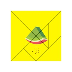 Fruit Melon Sweet Yellow Green White Red Acrylic Tangram Puzzle (4  x 4 )