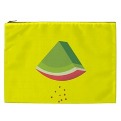 Fruit Melon Sweet Yellow Green White Red Cosmetic Bag (XXL)