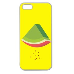 Fruit Melon Sweet Yellow Green White Red Apple Seamless iPhone 5 Case (Clear)