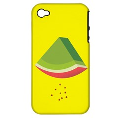 Fruit Melon Sweet Yellow Green White Red Apple iPhone 4/4S Hardshell Case (PC+Silicone)