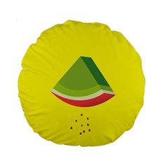 Fruit Melon Sweet Yellow Green White Red Standard 15  Premium Round Cushions