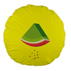 Fruit Melon Sweet Yellow Green White Red Large 18  Premium Round Cushions