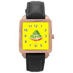 Fruit Melon Sweet Yellow Green White Red Rose Gold Leather Watch