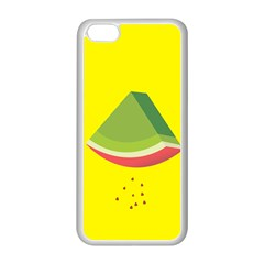 Fruit Melon Sweet Yellow Green White Red Apple iPhone 5C Seamless Case (White)