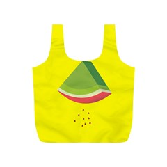 Fruit Melon Sweet Yellow Green White Red Full Print Recycle Bags (S)
