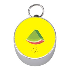Fruit Melon Sweet Yellow Green White Red Mini Silver Compasses