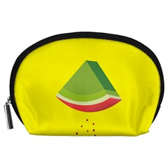 Fruit Melon Sweet Yellow Green White Red Accessory Pouches (Large)