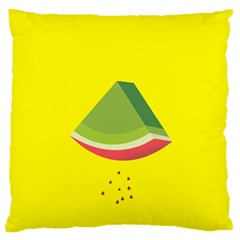 Fruit Melon Sweet Yellow Green White Red Large Flano Cushion Case (One Side)