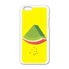 Fruit Melon Sweet Yellow Green White Red Apple Iphone 6/6s White Enamel Case