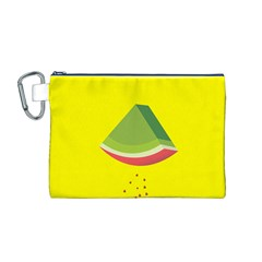 Fruit Melon Sweet Yellow Green White Red Canvas Cosmetic Bag (M)
