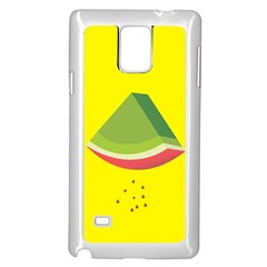 Fruit Melon Sweet Yellow Green White Red Samsung Galaxy Note 4 Case (White)