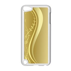 Golden Wave Floral Leaf Circle Apple Ipod Touch 5 Case (white)