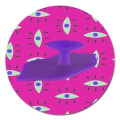 Eye Purple Pink Magnet 5  (round)