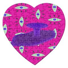 Eye Purple Pink Jigsaw Puzzle (Heart)