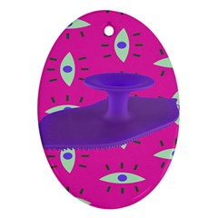 Eye Purple Pink Oval Ornament (Two Sides)