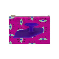 Eye Purple Pink Cosmetic Bag (Medium)