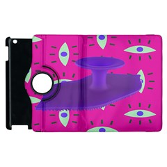 Eye Purple Pink Apple iPad 2 Flip 360 Case