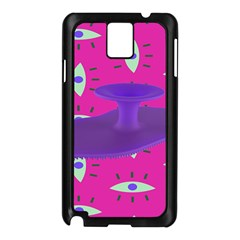 Eye Purple Pink Samsung Galaxy Note 3 N9005 Case (Black)