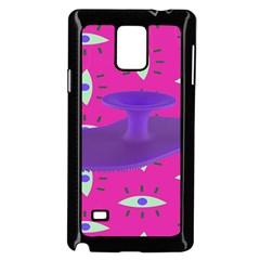 Eye Purple Pink Samsung Galaxy Note 4 Case (Black)