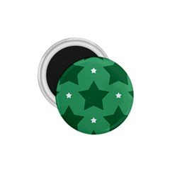 Green White Star 1.75  Magnets