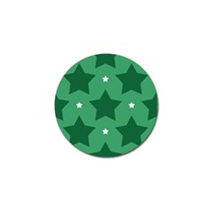 Green White Star Golf Ball Marker (4 pack)