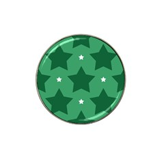 Green White Star Hat Clip Ball Marker