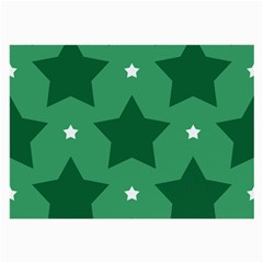 Green White Star Large Glasses Cloth
