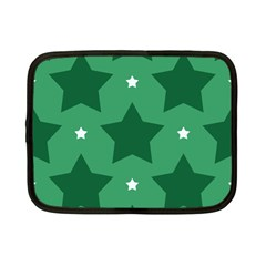 Green White Star Netbook Case (Small)