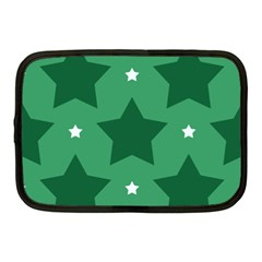 Green White Star Netbook Case (Medium)