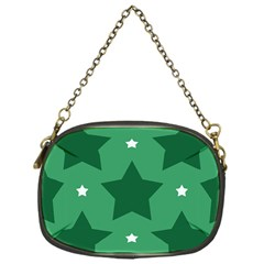 Green White Star Chain Purses (one Side)
