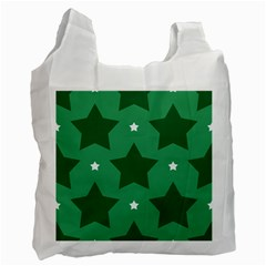 Green White Star Recycle Bag (Two Side)