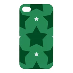Green White Star Apple iPhone 4/4S Premium Hardshell Case