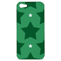 Green White Star Apple iPhone 5 Hardshell Case