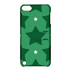 Green White Star Apple Ipod Touch 5 Hardshell Case With Stand