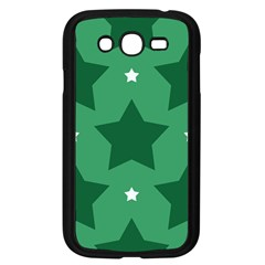 Green White Star Samsung Galaxy Grand DUOS I9082 Case (Black)