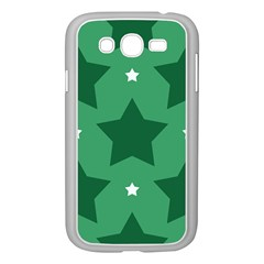 Green White Star Samsung Galaxy Grand DUOS I9082 Case (White)