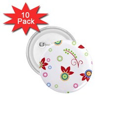 Floral Flower Rose Star 1.75  Buttons (10 pack)