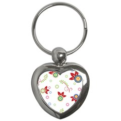Floral Flower Rose Star Key Chains (heart)