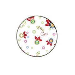 Floral Flower Rose Star Hat Clip Ball Marker (10 pack)