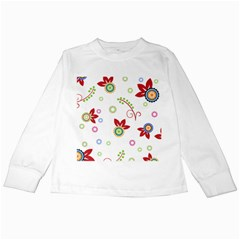 Floral Flower Rose Star Kids Long Sleeve T-Shirts