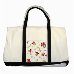 Floral Flower Rose Star Two Tone Tote Bag